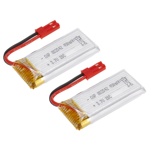 2pcs 3.7V 450mAh Li-po Battery for Flytec T18 Series RC Quadcopter