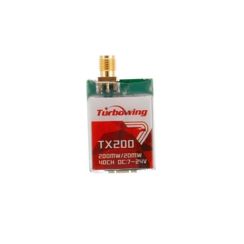Trasmissione TX200 200mW / 20mW FPV Trasmettitore 5.8G 40CH con telecamera 900TVL per RC Drone Quadcopter
