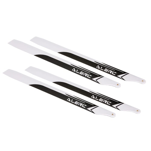 2 Pairs ALZRC 420mm Carbon Fiber Main Blades for Devil 420 FAST RC Helicopter