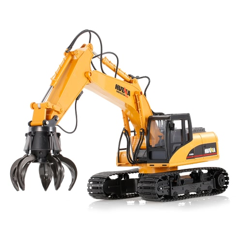 HUINA TOYS 1571 1/14 2.4Ghz 16CH Remote Control Grab Loader Grapple Tractor Truck Construction Vehicle Engineering Toys