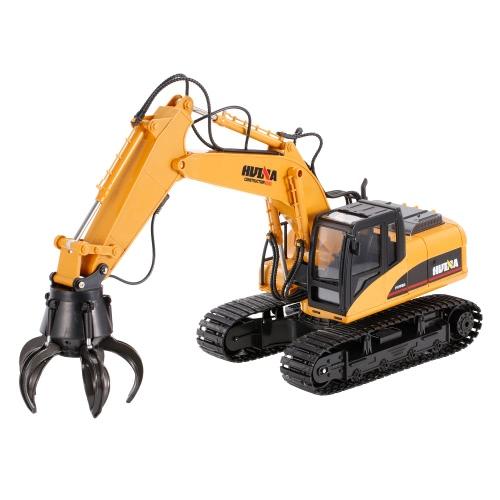 HUI NA JUGUETES 1571 1/14 2.4Ghz 16CH Mando a distancia Grab Loader Grapple Tractor Camión Construcción Vehículo Ingeniería Juguetes