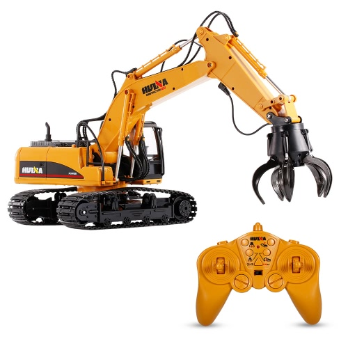 HUI NA TOYS 1571 1/14 2.4Ghz 16CH Remote Control Grab Loader Grapple Tractor Truck Construction Vehicle Engineering Toys