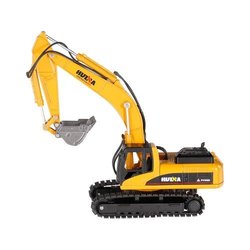HUI NA TOYS 1710 1/50掘削機エンジニアリング車両(合金バケット付)おもちゃギフトハウジングデコレーションコレクション