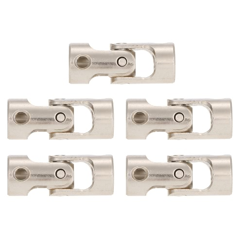 5pcs Stainless Steel 4 to 2.3mm Full Metal Universal Joint Cardan Couplings for RC Car and Boat D90 SCX10 RC4WD