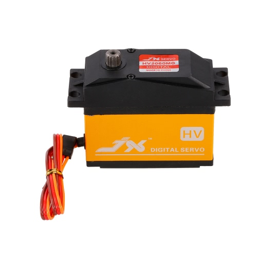 JX PDI-HV2060MG Metal Gear 6.0V-7.4V 0.13sec/60° Digital Servo 62kg Torque Aluminums Case for 1/5 RC Car