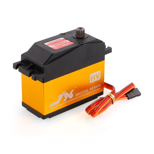JX PDI-HV2060MG Metal Gear 6.0V-7.4V 0.13 seg / 60 ° Digital Servo 62kg Torque Aluminum Case for 1/5 RC Car