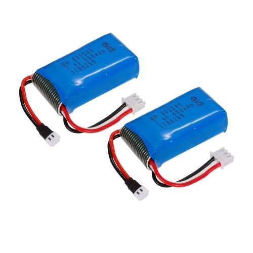 Linxtech DM009 Wifi FPVドローンQuadcopter用2pcs 7.4V 600mAh Li-Poバッテリー