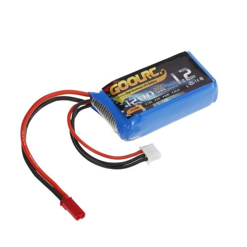 2pcs GoolRC 7.4V 1200mAh 25C JST Plug LiPo Battery