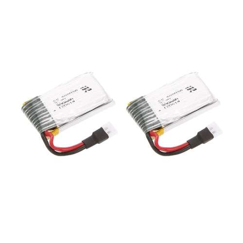Batería de 2pcs 3.7V 300mAh Li-po para C-17 2.4G 2CH 373mm Wingspan RC Airplane Transport Aircraft