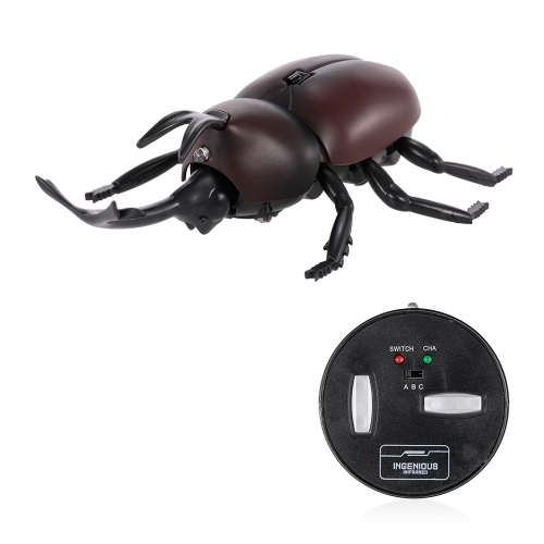 Infrared Remote Control Simulation Beetle Terrifying Toy Mini RC Animal Christmas Present Gift for Kids