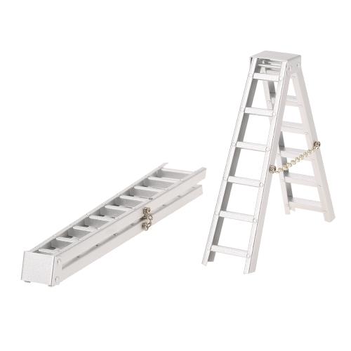 1:10 Mini escalera de aluminio RC Crawler para SCX10 RC4WD D90 D110 TAMIYA CC01 TRX4