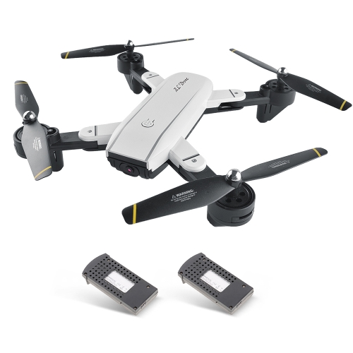 SG700 Dual 2.0MP 720P HD Camera Wifi FPV Optical Flow Drone RC Quadcopter w/ Two Batteries