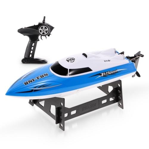 HUANQI HQ960 2.4 GHz 25 km / h RC Barco Anti-capotamento Controle Remoto Lancha RC Presente do Navio Menino Brinquedo Das Crianças