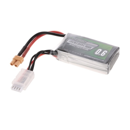 11.1V 600mAh 30C 3S Rechargeable Li-Po Battery with XT30 Plug for RC Racing Drone Quadcopter Helicopter Airplane Car Truck