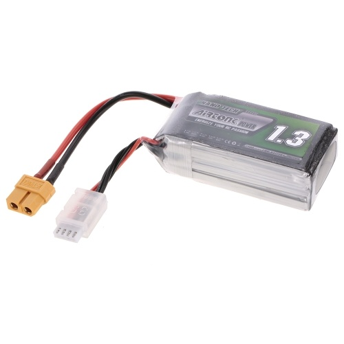 11.1V 1300mAh 60C 3S Rechargeable Li-Po Battery with XT60 Plug for RC Racing Drone Quadcopter Helicopter Airplane Car Truck