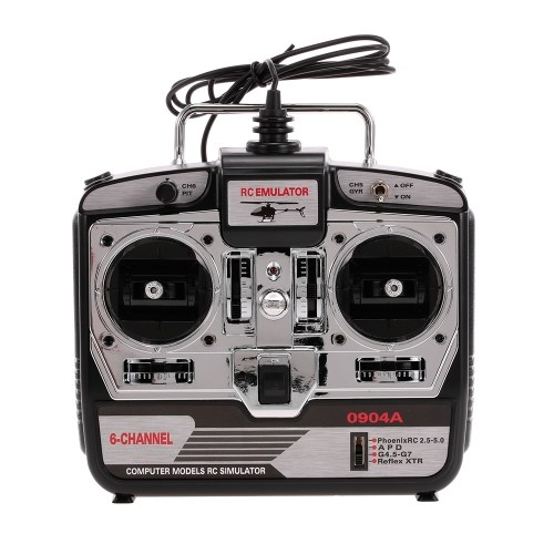 16 en 1 6CH USB Flight Simulator Emulator para RC Helicóptero Avión FPV Racing Drone Quadcopter