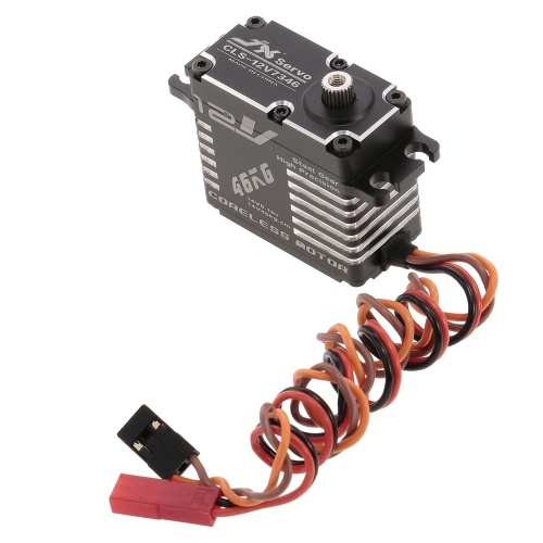 JX CLS-12V7346 46KG 12V Aluminium Digital Coreless Servo for RC Car Helicopter Boat Airplane