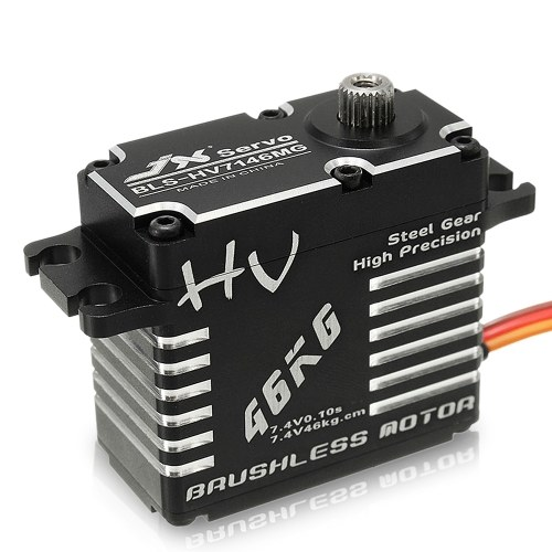 JX BLS-HV7146MG 46kg HV High Torque Brushless Servo Metal Digital Impermeable