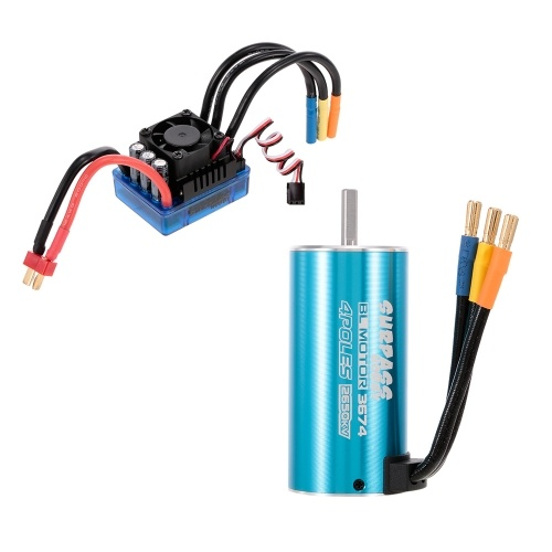 SURPASS HOBBY 3674 2650KV Brushless Motorless e 120A Brushless ESC para 1/10 1/8 RC Car Truck