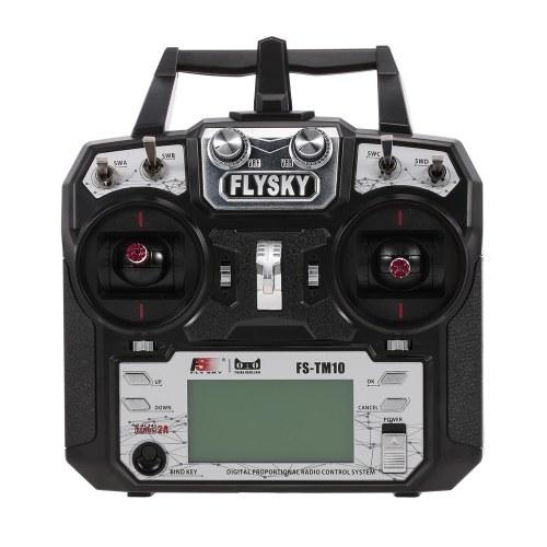 FLYSKY FS-TM10 10CH 2.4 GHz AFHDS 2A Transmissor Do Controlador Remoto com iA10B Receptor FS i6X Upgrade