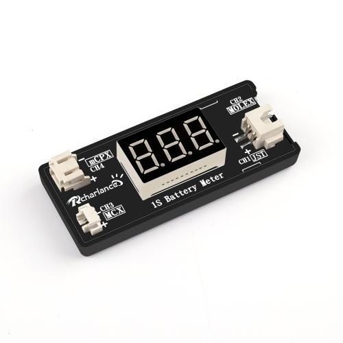 Probador del verificador de voltaje de la batería LiPo 1S