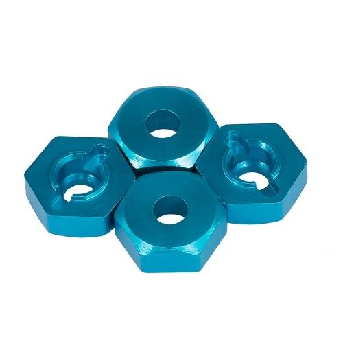 4PCS 12mm Aluminum Alloy Wheel Hex