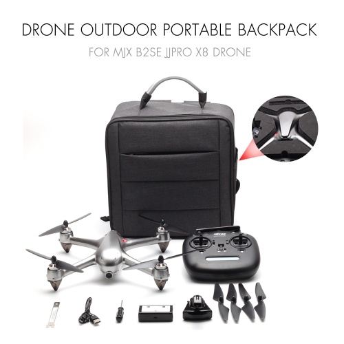 Drone Backpack Outdoor Portable Shockproof Waterproof Backpack for MJX B2SE JJPRO X8 Drone