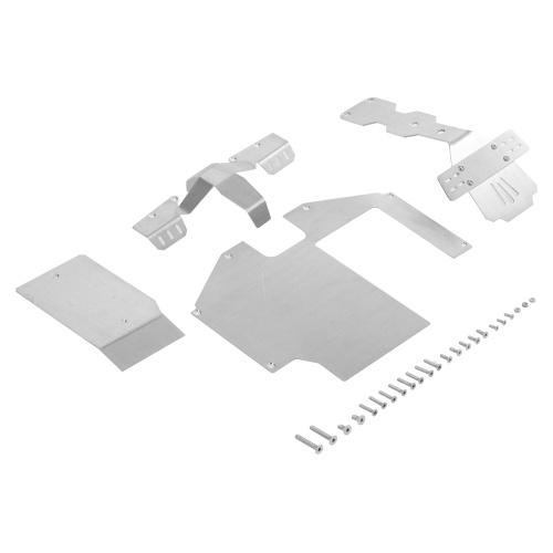 Ensemble d'armure de châssis d'armure de protection d'essieu 3 en 1 en acier inoxydable pour 1/7 Traxxas illimité Desert Racer UDR