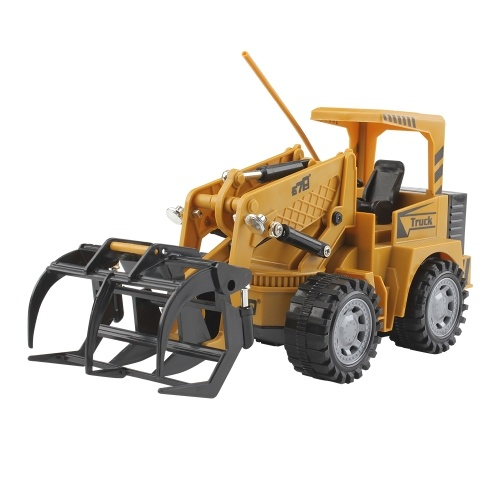 1:24 5CH Remote Control Electric Timber Grab Crawler Construction Car Toy