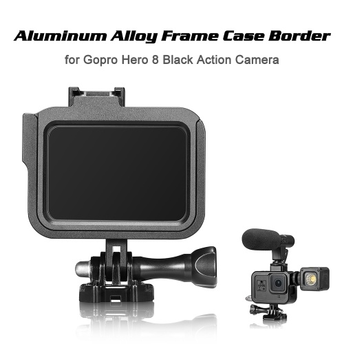 フレームケースボーダー保護カバーアルミ合金ハウジングマウントベースfor Gopro Hero 8ブラックアクションカメラ保護アクセサリー