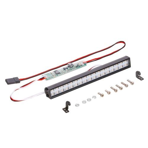 RC LED allume la barre 100mm / 3.9in lampe de toit en métal phare 34LEDs lumière