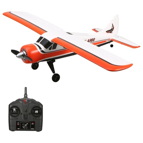 Wltoys XKS A900 2.4Ghz 4 Channel RC Plane Remote Controlled Aircraft Fighter Brushless Motor Multiple Flight Modes EPP Crash Resistant