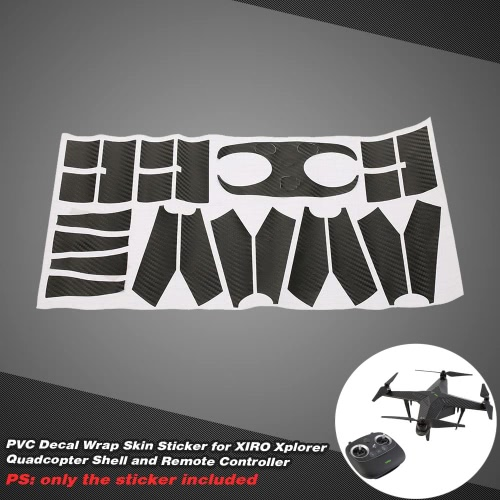 PVC Decal Wrap Skin Sticker for XIRO Xplorer Quadcopter Shell and Remote Controller