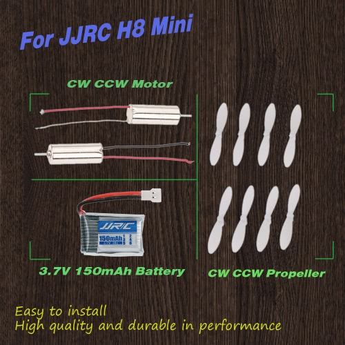 RC Parte CW CCW Motore e 3,7V 150mAh Batteria a Lipo con 4 Paia di CW CCW Eliche per JJRC H8 Mini RC Quadrirotore