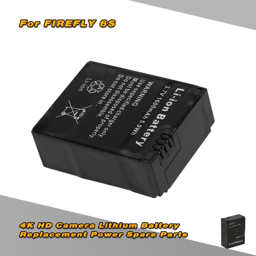 3.7V 1600mAh Li-ion Battery for FIREFLY 6S 4K HD Action Camera