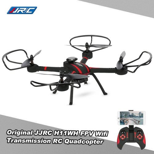 JJRC H11WH 2.4G 4CH 6-axis Gyro 2.0MP HD Camera WiFi FPV RC Quadcopter RTF with Headless Mode 3D-flip Set-height Mode Function