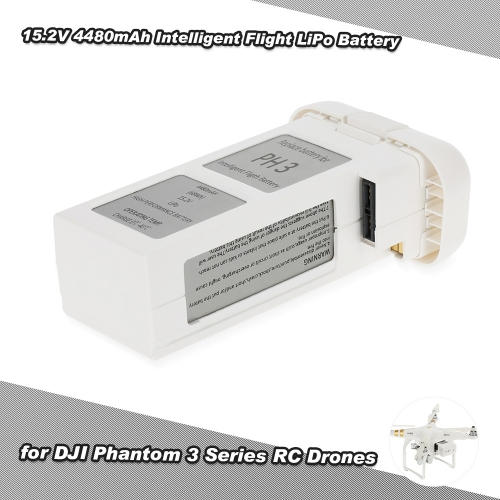 15.2V 4480mAh Intelligent Flight Rechargeable LiPo Battery for DJI Phantom 3 Advanced / Professional / Standard RC Drones