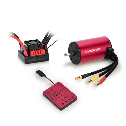 GoolRC S3660 3300KV Sensorless Brushless Motor 60A Brushless ESC e Program Card Combo Set para 1/10 RC Car Truck