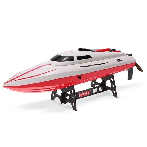 オリジナルSYMA Q1パイオニア2.4G 2CHリモコン180°フリップ高速電動RCボートキッズギフト