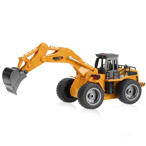 オリジナルHUINA TOYS NO.1530 2.4G 6CHミニRCショベルエンジニアリング車のトラックのおもちゃ子供のための