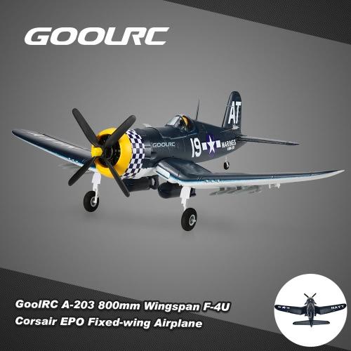 Original GoolRC A-203 800mm Wingspan F-4U Corsair Mini Warbird EPO Fixed-wing Airplane PNP Version