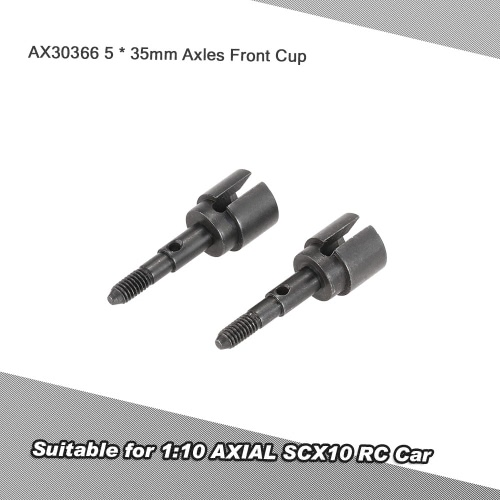 2個AX30366アクスルフロントカップ5 * 1:10 AXIAL SCX10 RCカーのための35ミリメートル
