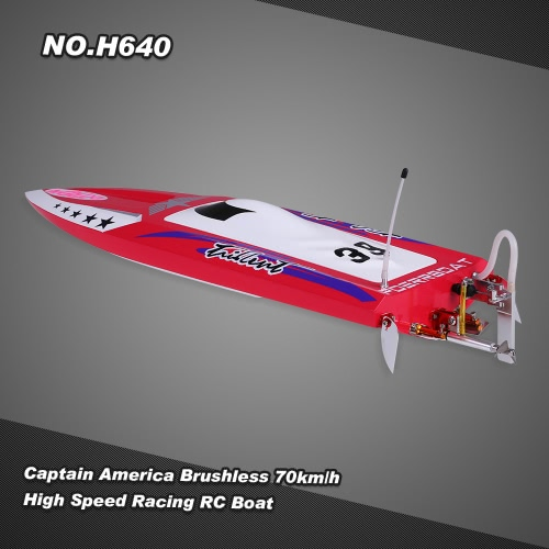 NO.H640 Captain America Brushless RC Racing Boat  70km/h High Speed PNP Version with Servo ESC Motor