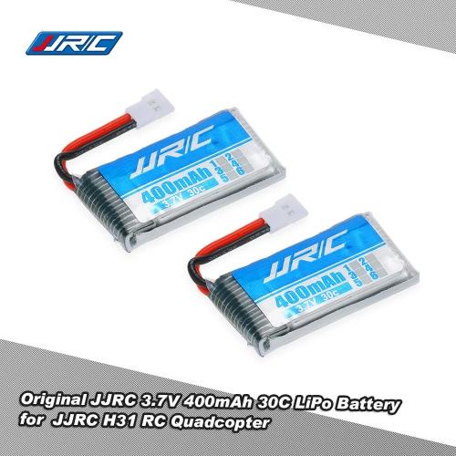 JJR / C H31 GoolRC T6 RCクワッドローターのための2個オリジナルJJR / C 3.7V 400 mAhの30Cリポバッテリー