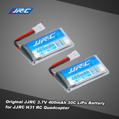2pcs Original JJRC 3.7V 400mAh 30C LiPo Battery for JJRC H31 GoolRC T6 RC Quadcopter