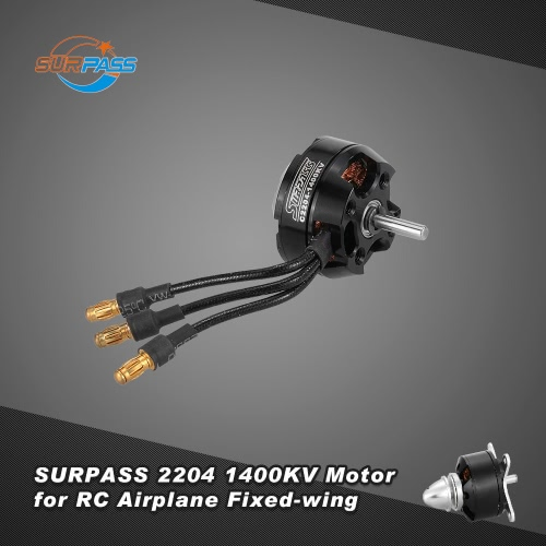 Original SURPASS High Performance 2204 1400KV 14 Poles Brushless Motor for RC Airplane Fixed-wing