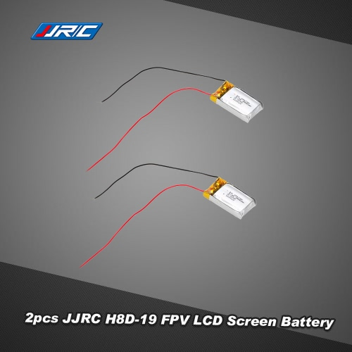 2Pcs Original JJRC H8D-19 3.7V 250mAh FPV LCD Screen Battery for H8D RC Quadcopter