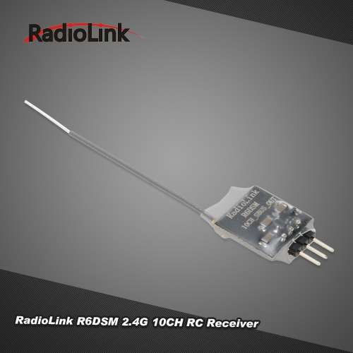 Original RadioLink R6DSM 2.4G 10CH DSSS & FHSS RC Receiver for RadioLink AT9 AT9S AT10 AT10II Transmitter
