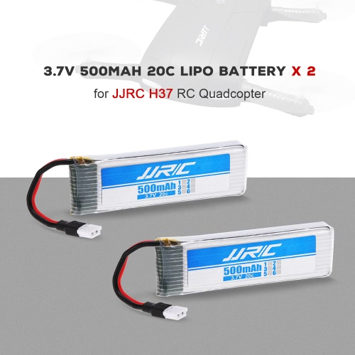 2pcs Original JJR/C 3.7V 500mAh 20C LiPo Battery for JJR/C H37 GoolRC T37 RC Quadcopter