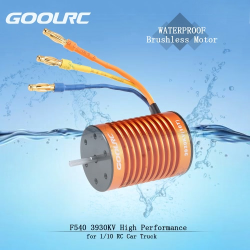 GoolRC Upgrade Waterproof F540 3930KV Brushless Motor with 45A ESC Combo Set for 1/10 RC Car Truck